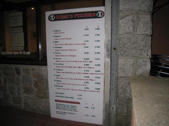 Rossi's Pizzeria: Rossi's Pizeria Prices