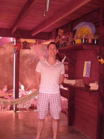 Pousada Mar Azul: Leseecke mit Hängematte im Innenhof der Pousada