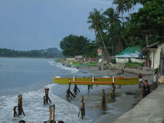 Bauang, Philippines: View of the amazing beach