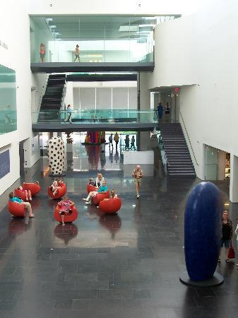 Virginia Museum of Fine Arts: inside the museum, showing lobby