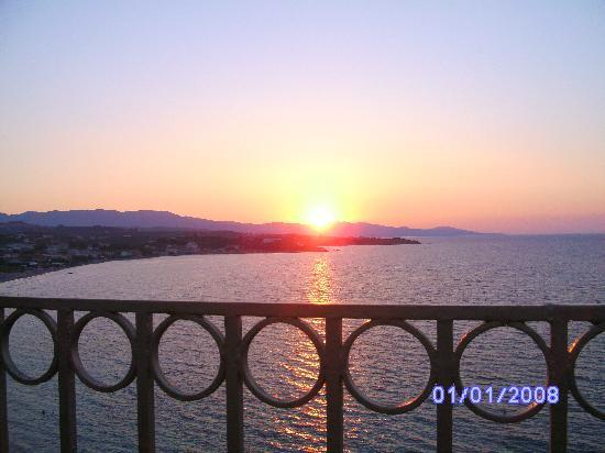 Zante Star: Sunset from The Balcony Restaurant