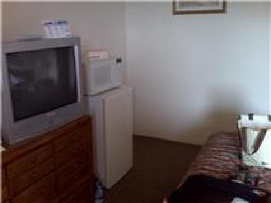 Econo Lodge: tv, fridge and microwave