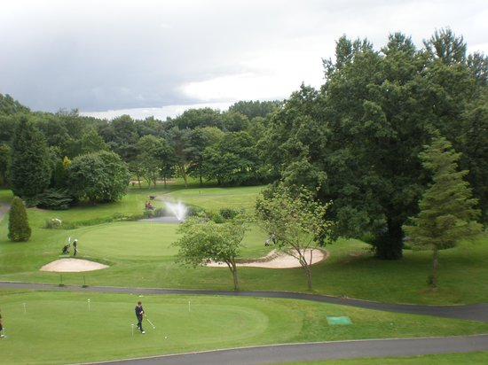 View of the first tee from our 2nd floor room (with Juliet Balcony)