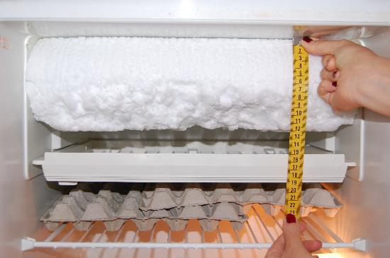 Aparthotel Wellington: il freezer completamente occupato dal ghiaccio.