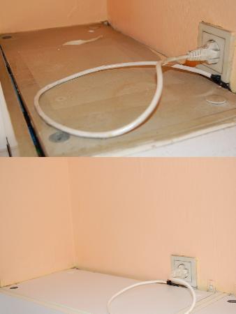 Aparthotel Wellington: i pensili prima e dopo la MIA pulizia.