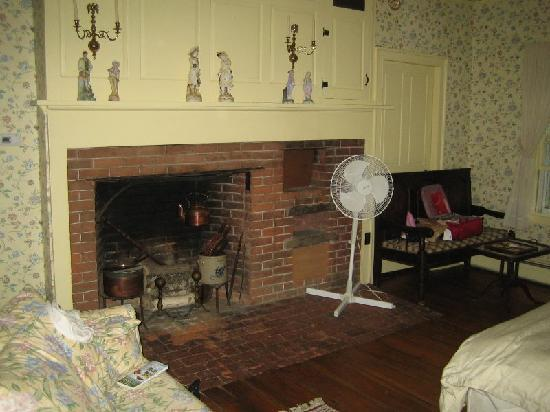 Bailey's Mills Bed and Breakfast: Bedroom fireplace, cosy in winter