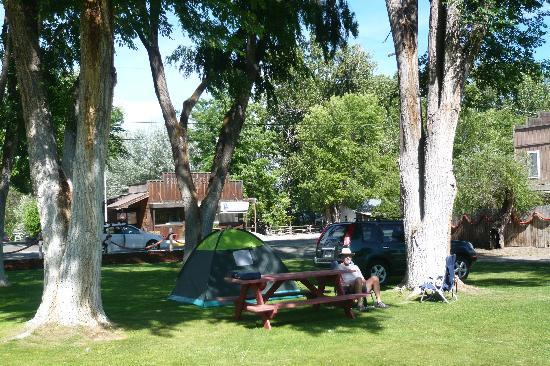 Fish House Inn and RV Park: Our site, Dayville PO in background