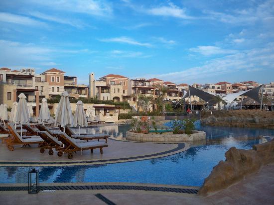 Atlantica Sensatori Resort Crete : Pool by dusk