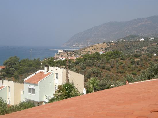 Sandy Bay: Utsikt från hotellrummet mot Plomari