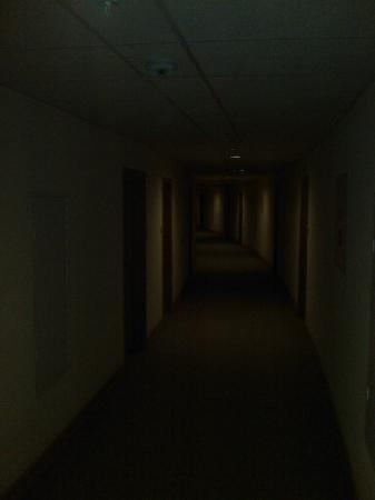 Moscow Hotel: Typisch endloser Gang zu den Zimmern