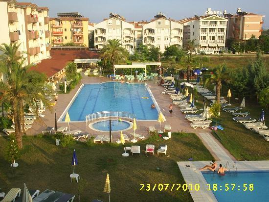 Aral Hotel: view from 3rd floor balcony