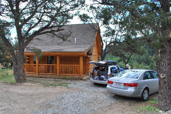 Nathrop, CO: Cabin Front, facing waterslide