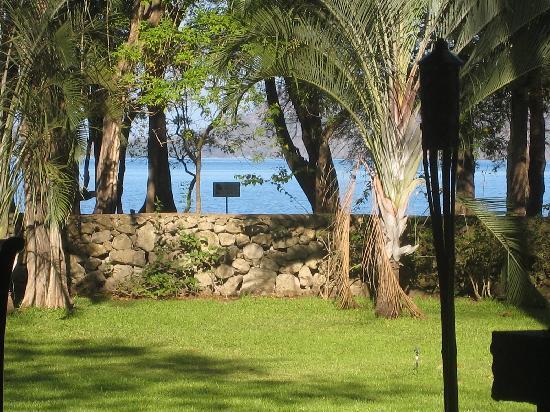 Garten mit Blick auf den Strand