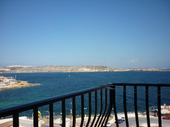 Sunseeker Holiday Complex: view from our bedroom- we were lucky to face towards the sea