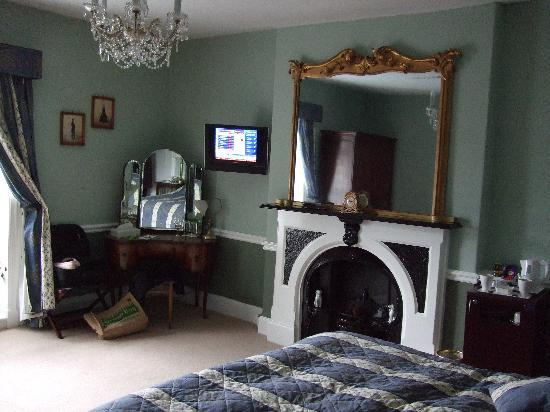 Plas Dinas Country House: The room - small TV with few channels