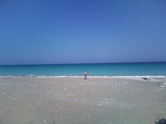 Tholos, Greece: the beach
