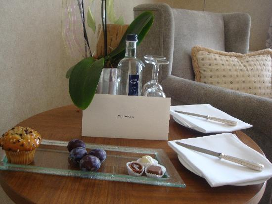 Schlosshotel Buehlerhoehe: Welcome letter, thoughtful detail (I liked it)