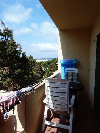 Las Dunas: la petite terrasse, parfaite pour les petits déjeuners et diners romantiques
