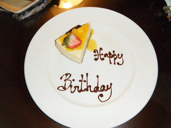 Hilton Barbados Resort: Unexpected Birthday Cake from staff