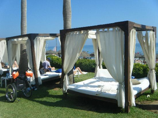 Don Carlos Leisure Resort & Spa: Beach Club beds = €15!!