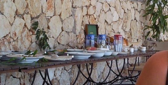Yali Beach Hotel: Breakfast sparrows