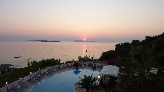 Terezas Hotel: Sunset from the balcony