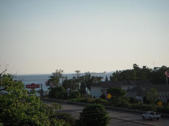 Holiday Inn Express Mackinaw City: View from our small balcony