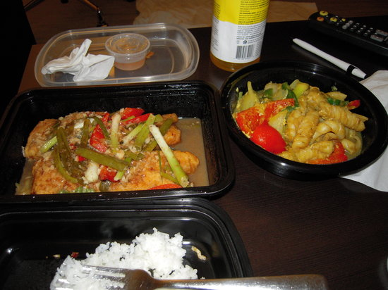 Cha Baa Thai Restaurant: Stir Fried Yellow Curry Squid & Lemon Grass Fish