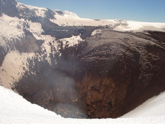 Pucon, Chili : Cráter volcán Villarrica