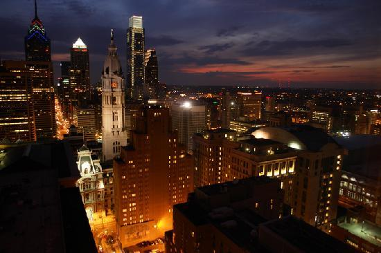 Loews Philadelphia Hotel Night Downtown Philly Darius Aidala