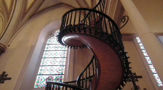 Inn At Santa Fe: Spiral stairway