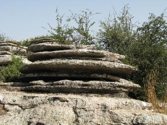 Antequera, Spanyol: Typical eroded stone
