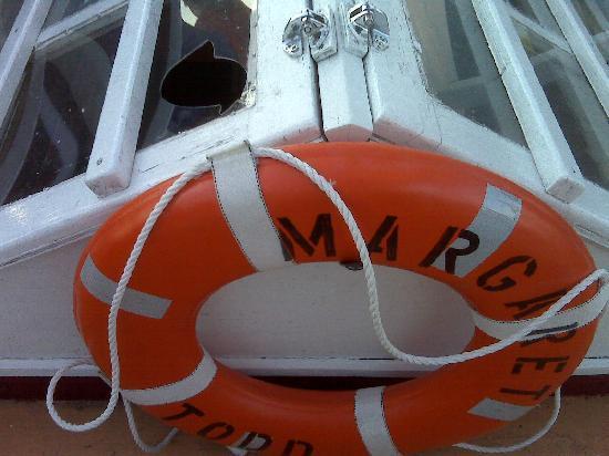 Downeast Windjammer Cruises Lines: broken glass on Margaret Todd