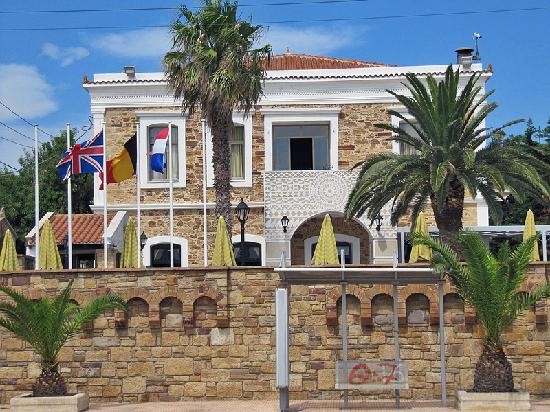 Chios Town, Griechenland: Hotel Front