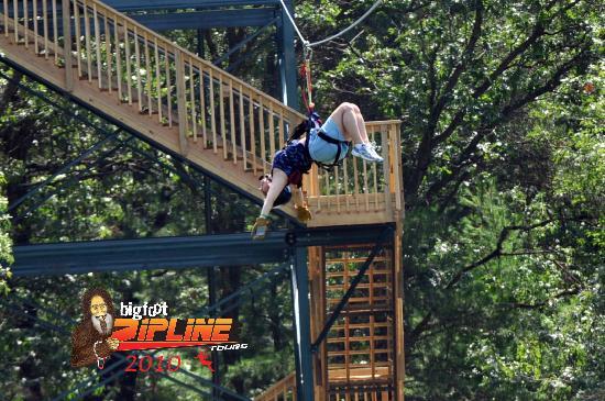 Bigfoot Zipline : Just hanging around!