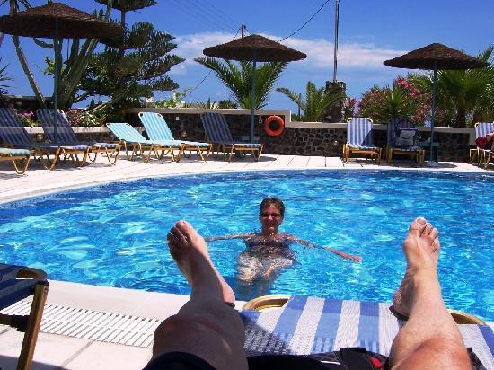 Castro Hotel Kamari: Genuß im Pool
