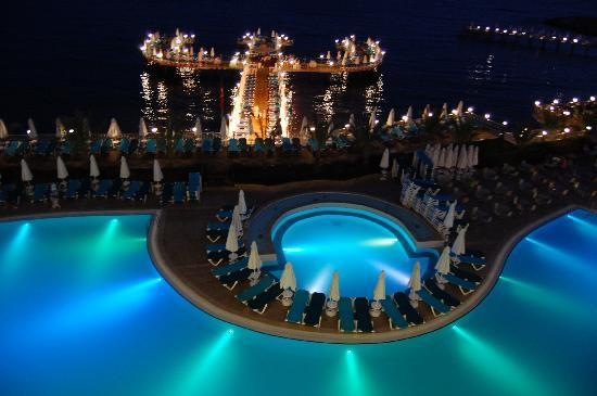 Orange County Resort Hotel Alanya: view from my room at night