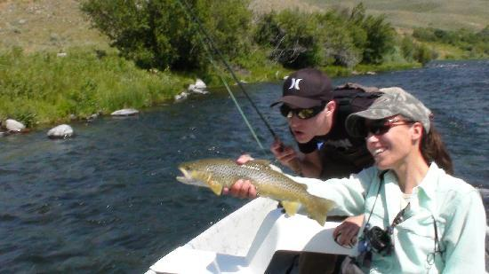 Yellowstone Fishing Guides: Mathew and Giselle, Madison River MT