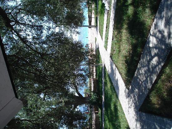 Dhermi, Albania: sicht vom bungalow
