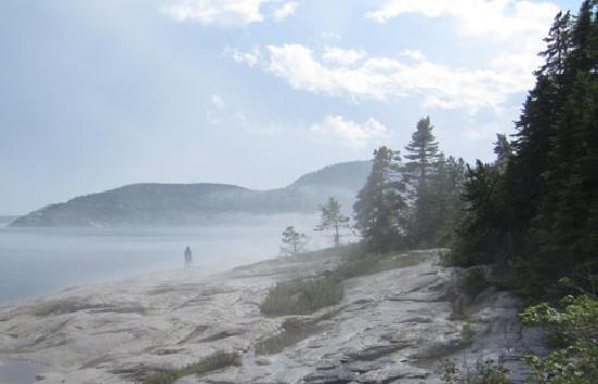 Le temps d'une pause : Fog at Tadoussac Bay