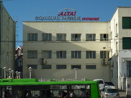 Altai Barbecue Restaurant: Aussenansicht Restaurant