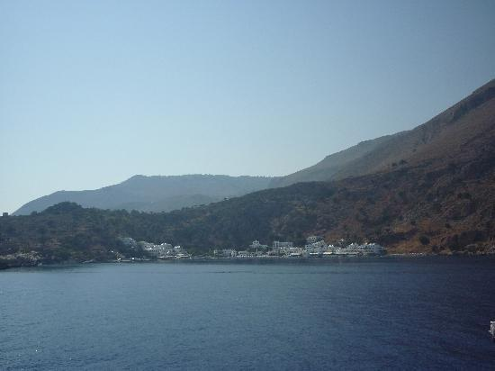 Hotel Porto Loutro : Loutro village as seen from the boat