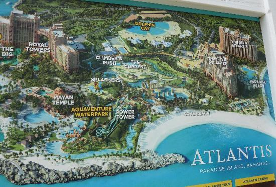Atlantis Resort Map Best & accurate map of Atlantis available, but it's on a billboard