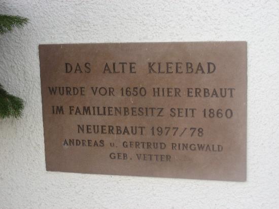 Zell am Harmersbach, Allemagne : Kleebad
