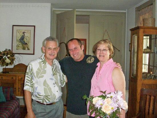 The Inn at Twin Linden: James with Sue and Norm