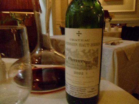 Restaurant La Cremaillere : Fine Wine