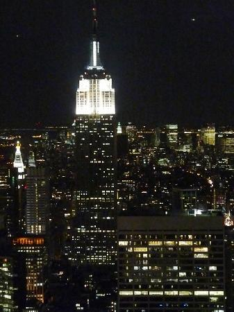 Plate-forme d'observation du GE Building : Manhattan by night from the Top of the Rock