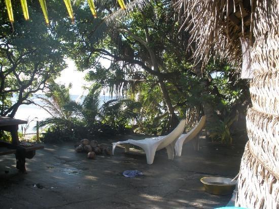 Ha'atafu Beach Resort: our patio