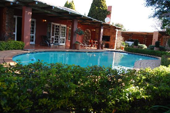 Accommodation at Van's: View of the garden and pool