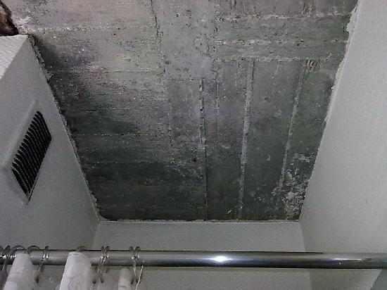Hotel Confor'tel : Etat du plafon de la salle de bain
